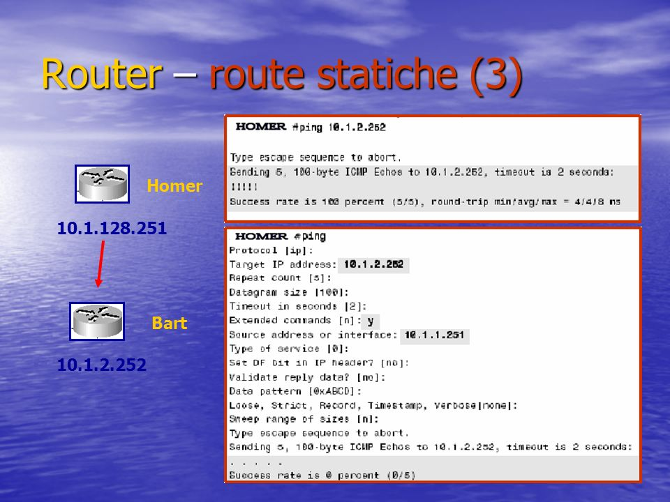 Router – route statiche (3)