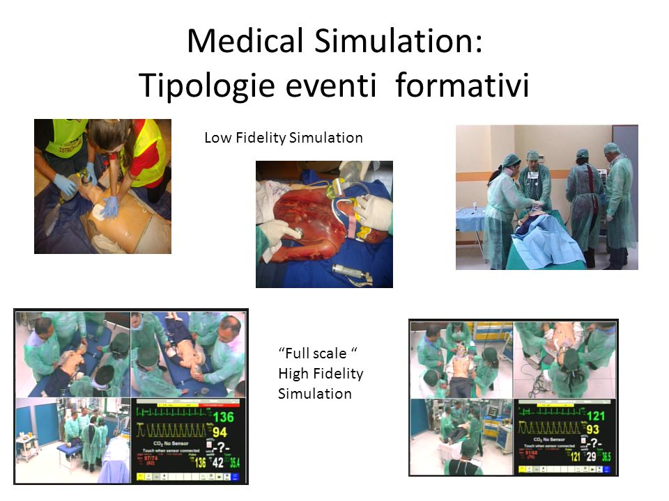 Medical Simulation: Tipologie eventi formativi