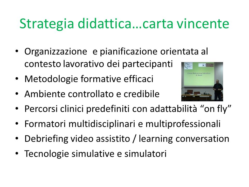 Strategia didattica…carta vincente