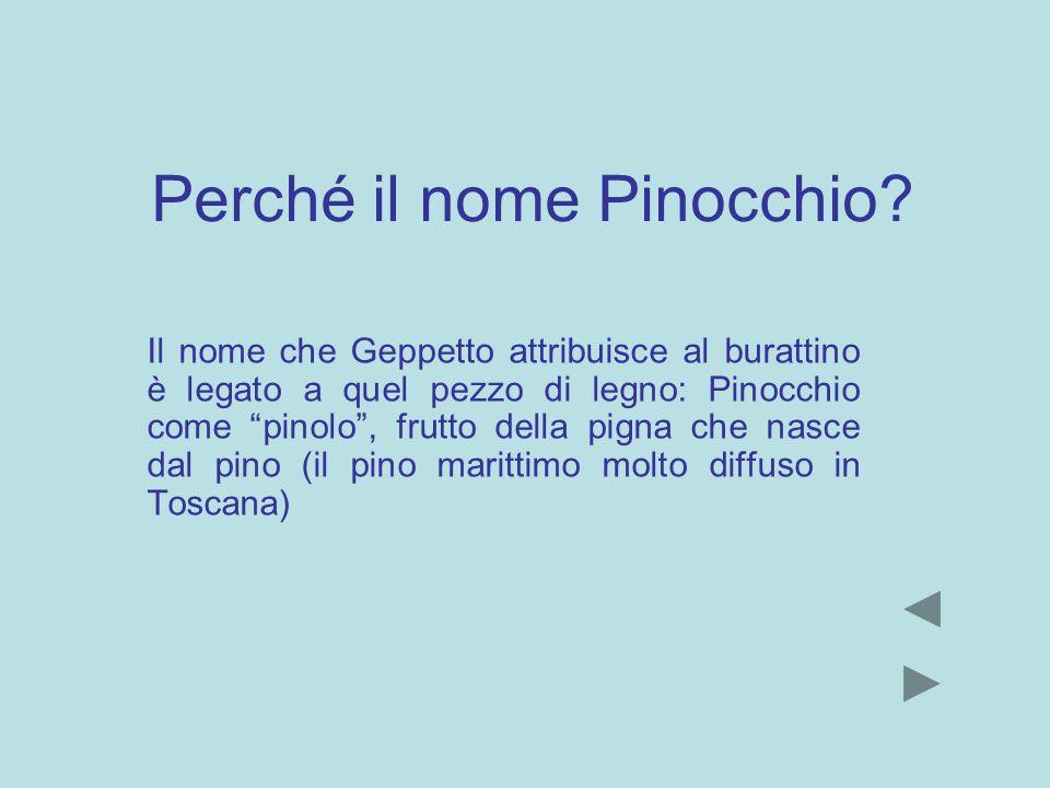 Perché il nome Pinocchio
