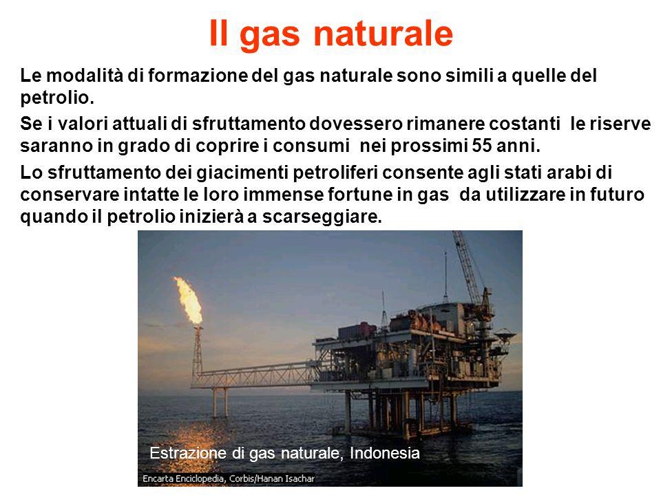 Il gas naturale Le modalità di formazione del gas naturale sono simili a quelle del petrolio.