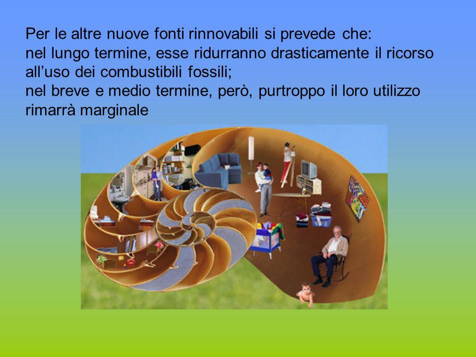Per le altre nuove fonti rinnovabili si prevede che: