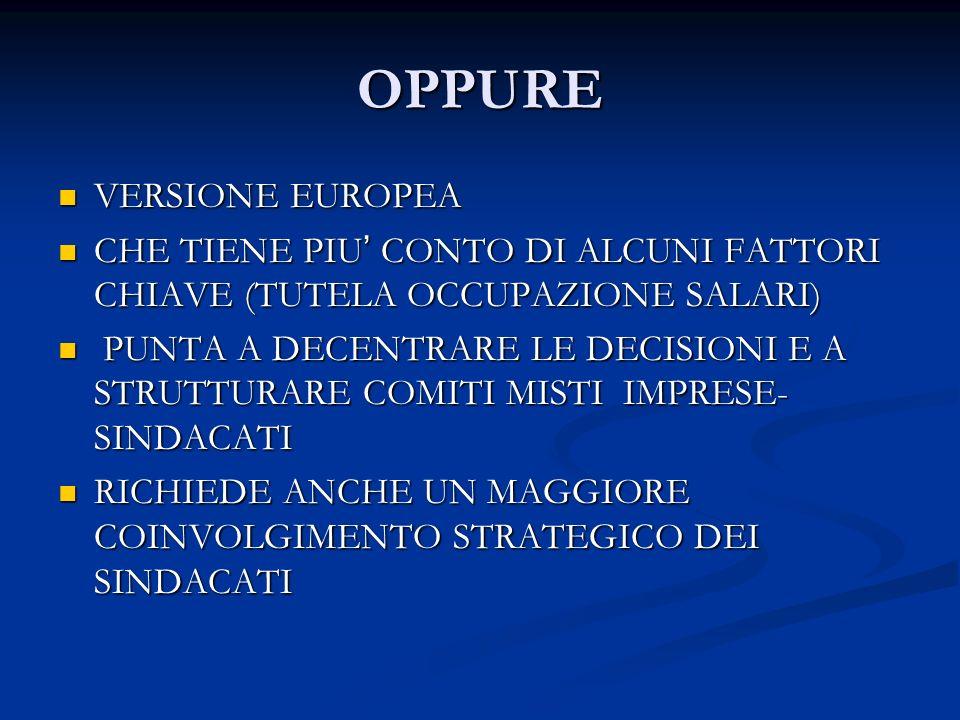 OPPURE VERSIONE EUROPEA