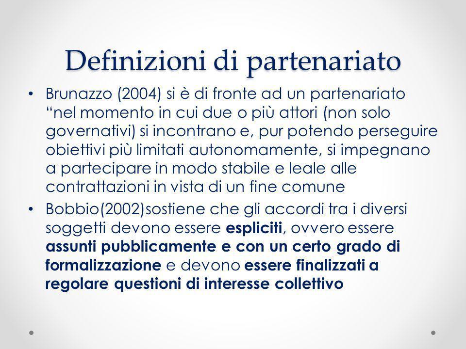 Definizioni di partenariato