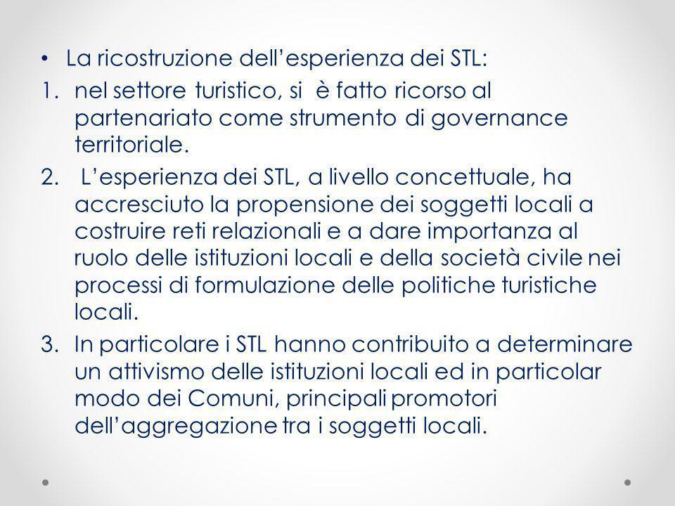 La ricostruzione dell'esperienza dei STL: