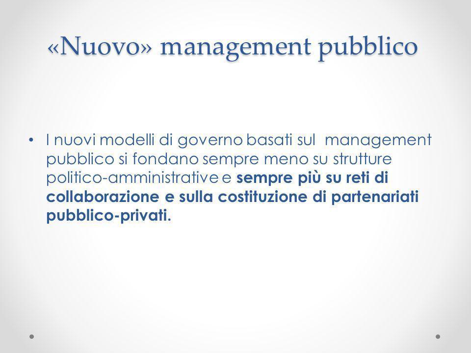 «Nuovo» management pubblico