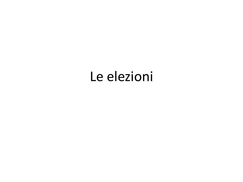 Le elezioni