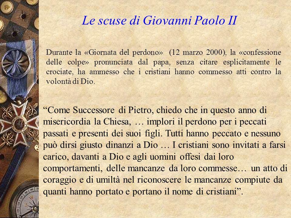 Le scuse di Giovanni Paolo II