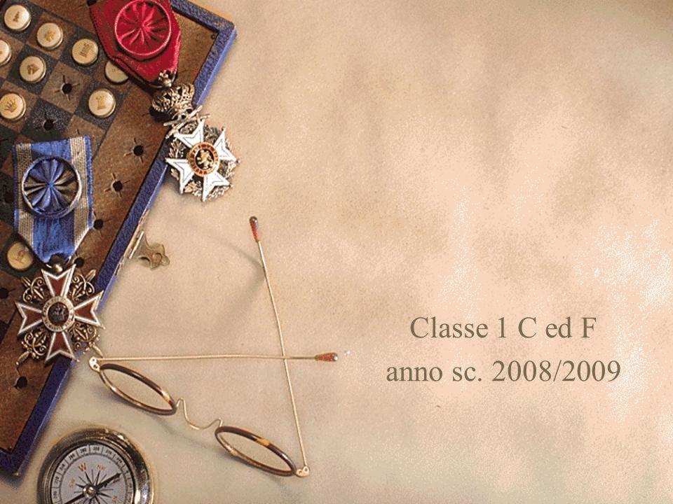 Classe 1 C ed F anno sc. 2008/2009