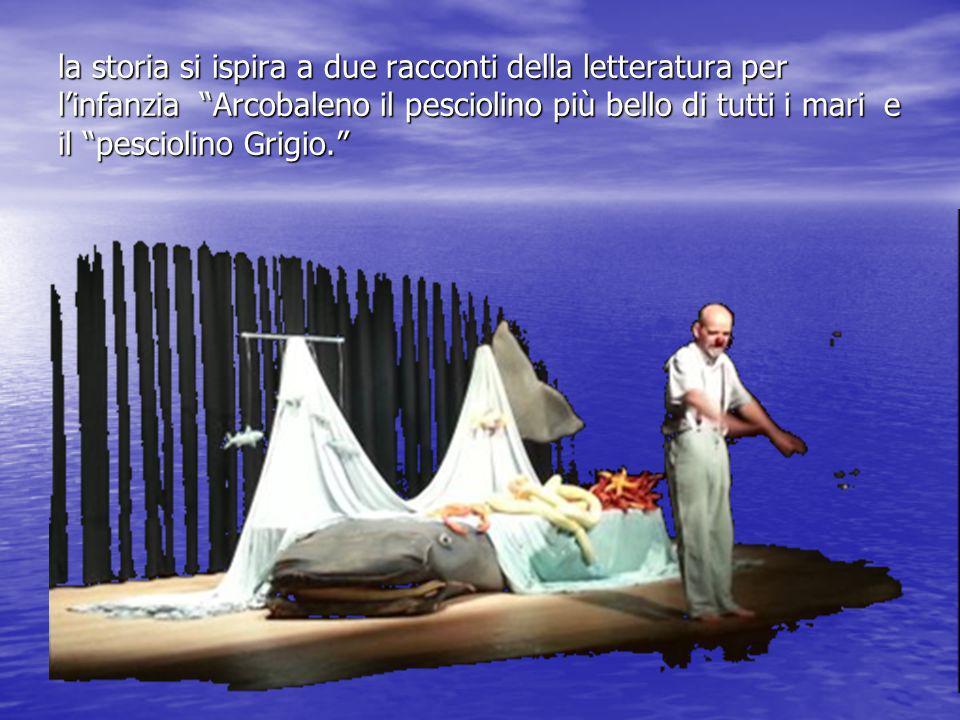 la storia si ispira a due racconti della letteratura per l'infanzia Arcobaleno il pesciolino più bello di tutti i mari e il pesciolino Grigio.