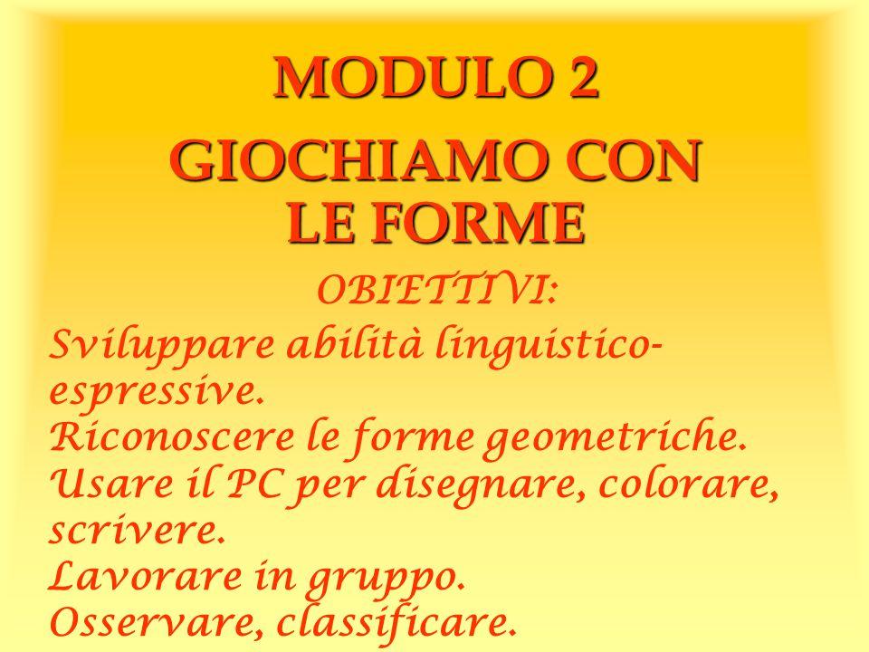 MODULO 2 GIOCHIAMO CON LE FORME