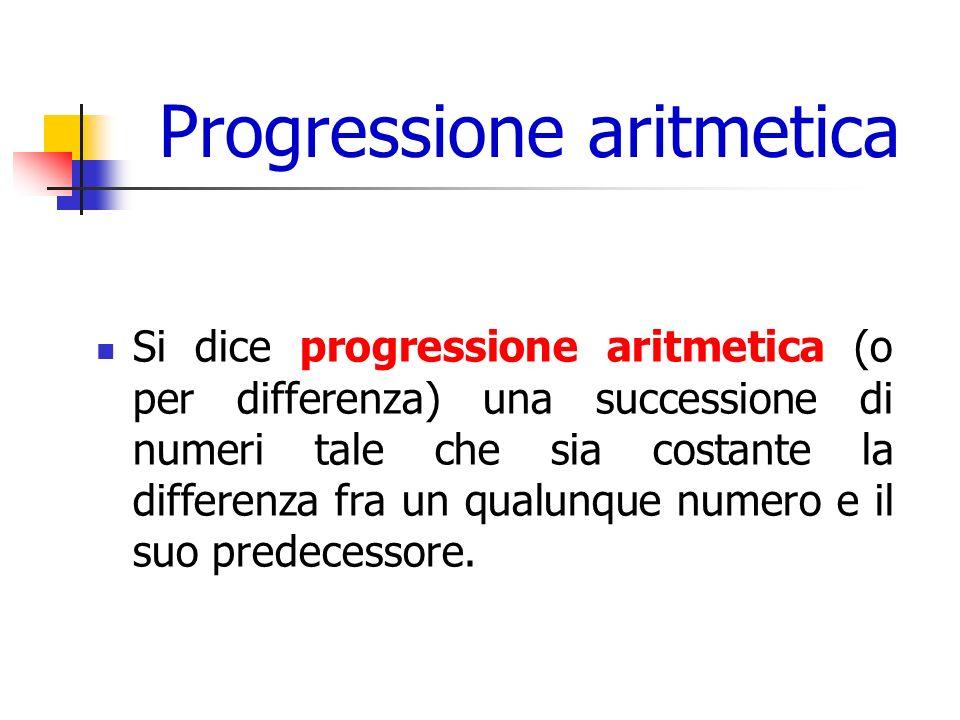 Progressione aritmetica