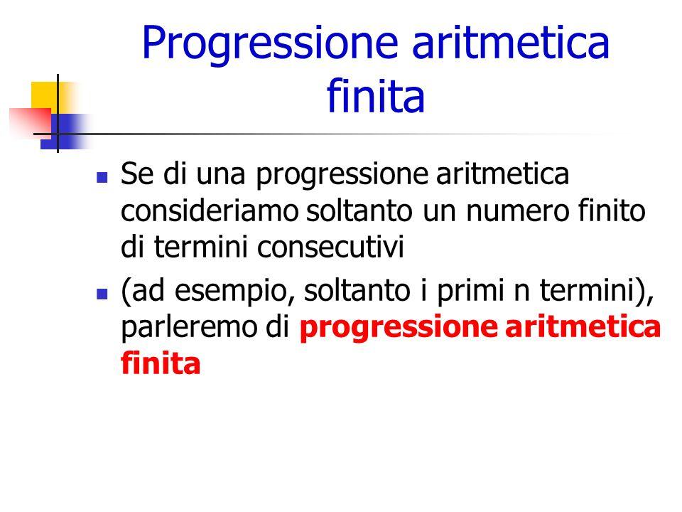 Progressione aritmetica finita