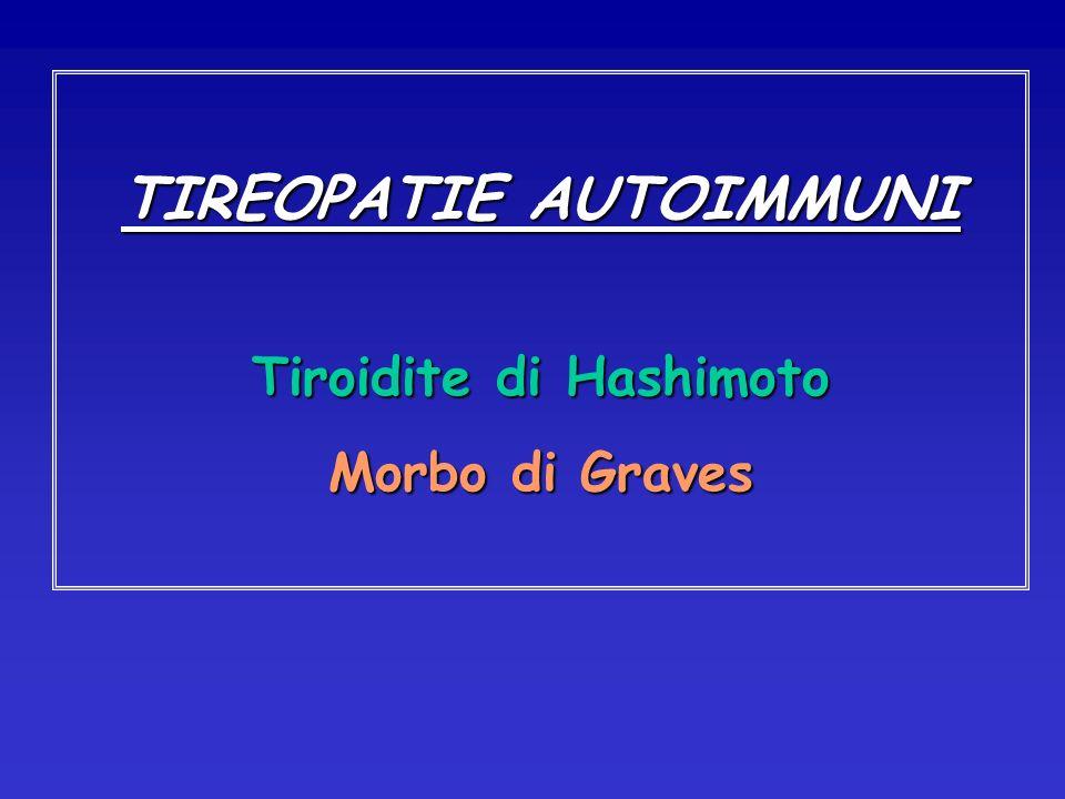 TIREOPATIE AUTOIMMUNI Tiroidite di Hashimoto