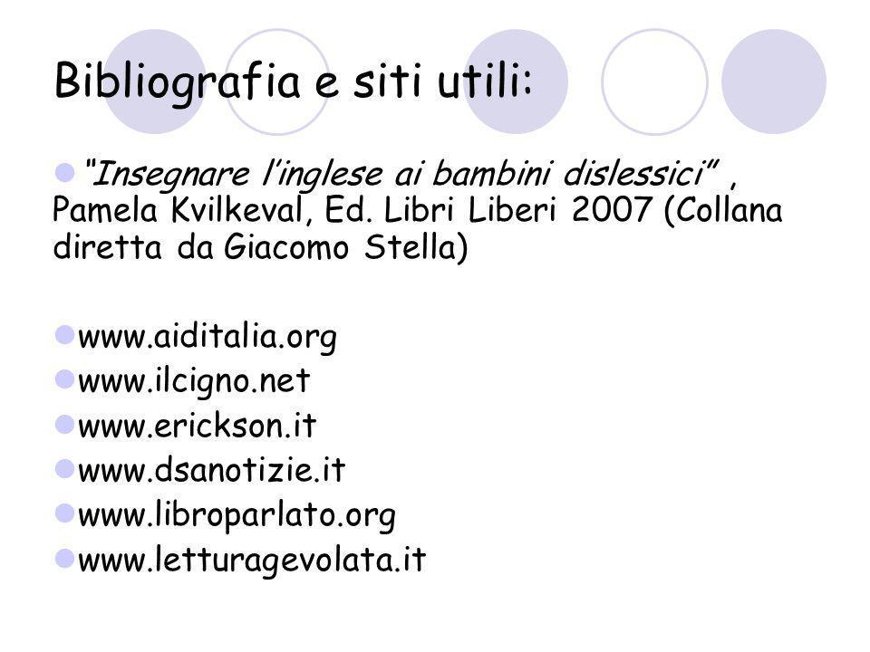 Bibliografia e siti utili: