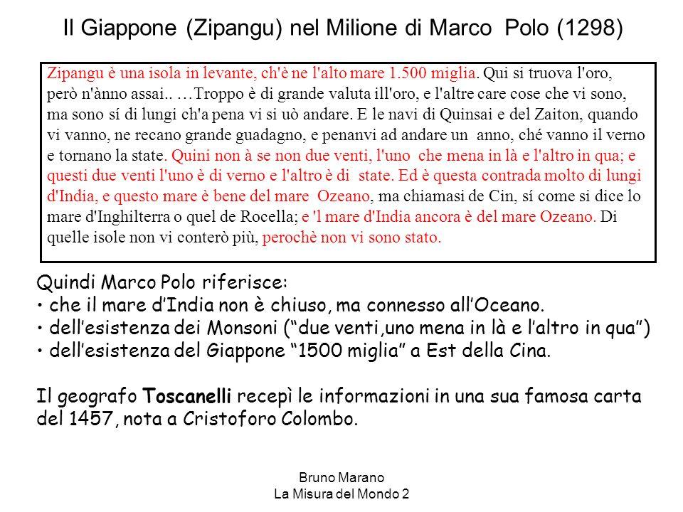 Il Giappone (Zipangu) nel Milione di Marco Polo (1298)