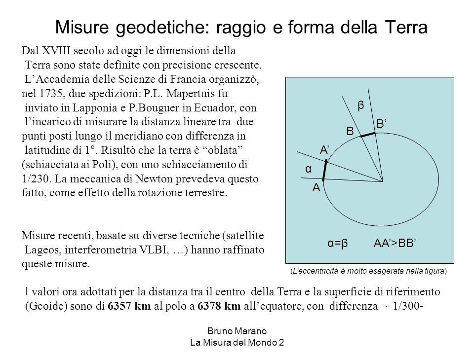 Misure geodetiche: raggio e forma della Terra