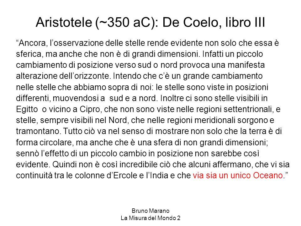 Aristotele (~350 aC): De Coelo, libro III