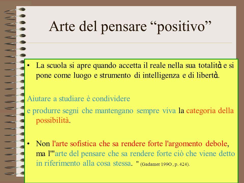 Arte del pensare positivo