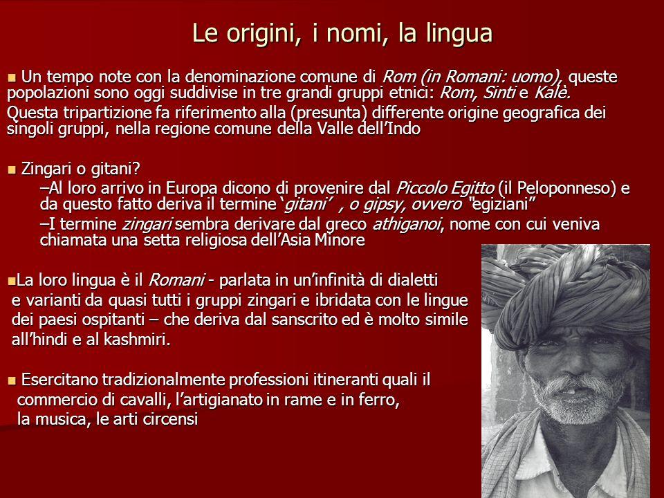 Le origini, i nomi, la lingua