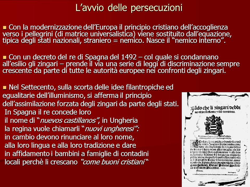 L'avvio delle persecuzioni