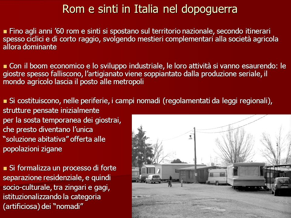 Rom e sinti in Italia nel dopoguerra
