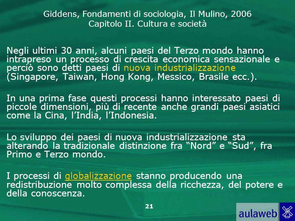 Negli ultimi 30 anni, alcuni paesi del Terzo mondo hanno intrapreso un processo di crescita economica sensazionale e perciò sono detti paesi di nuova industrializzazione (Singapore, Taiwan, Hong Kong, Messico, Brasile ecc.).