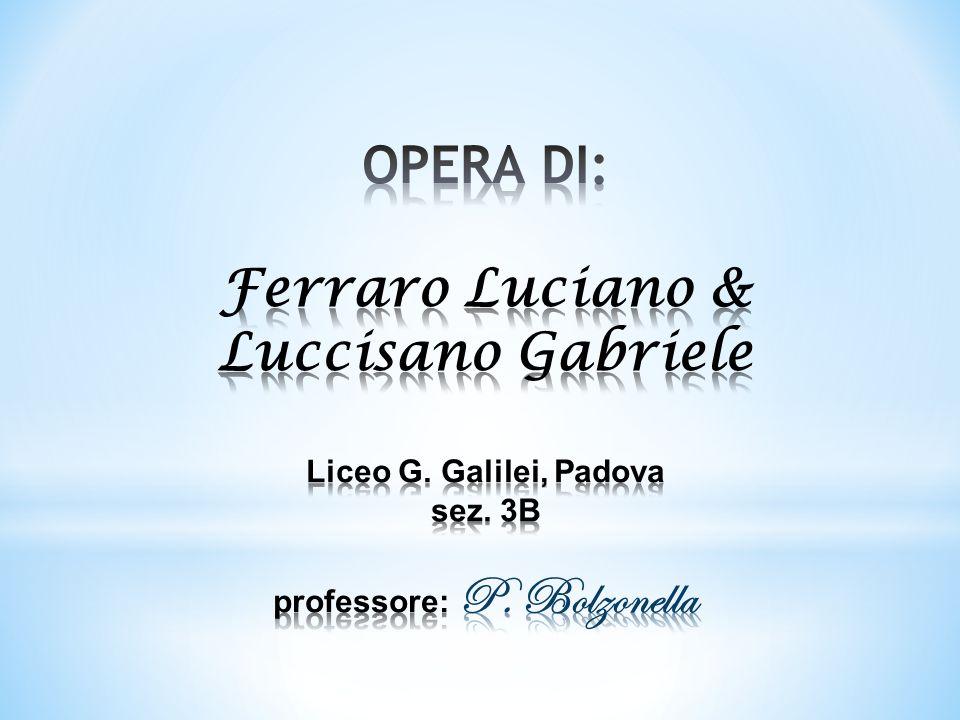 OPERA DI: Ferraro Luciano & Luccisano Gabriele Liceo G