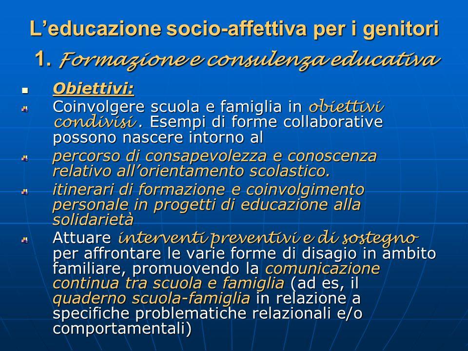 L'educazione socio-affettiva per i genitori 1