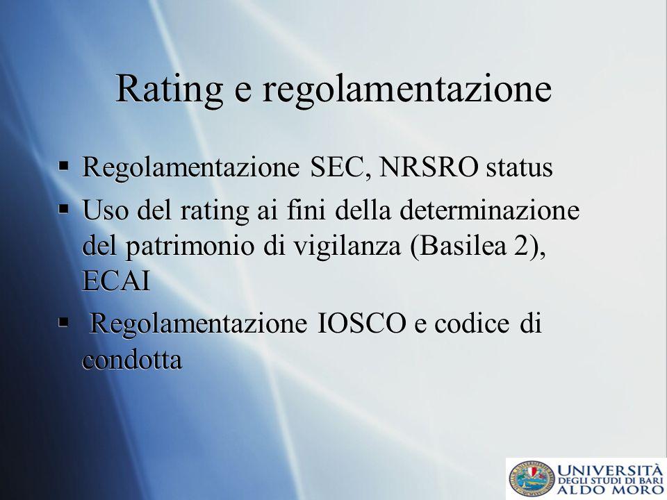 Rating e regolamentazione