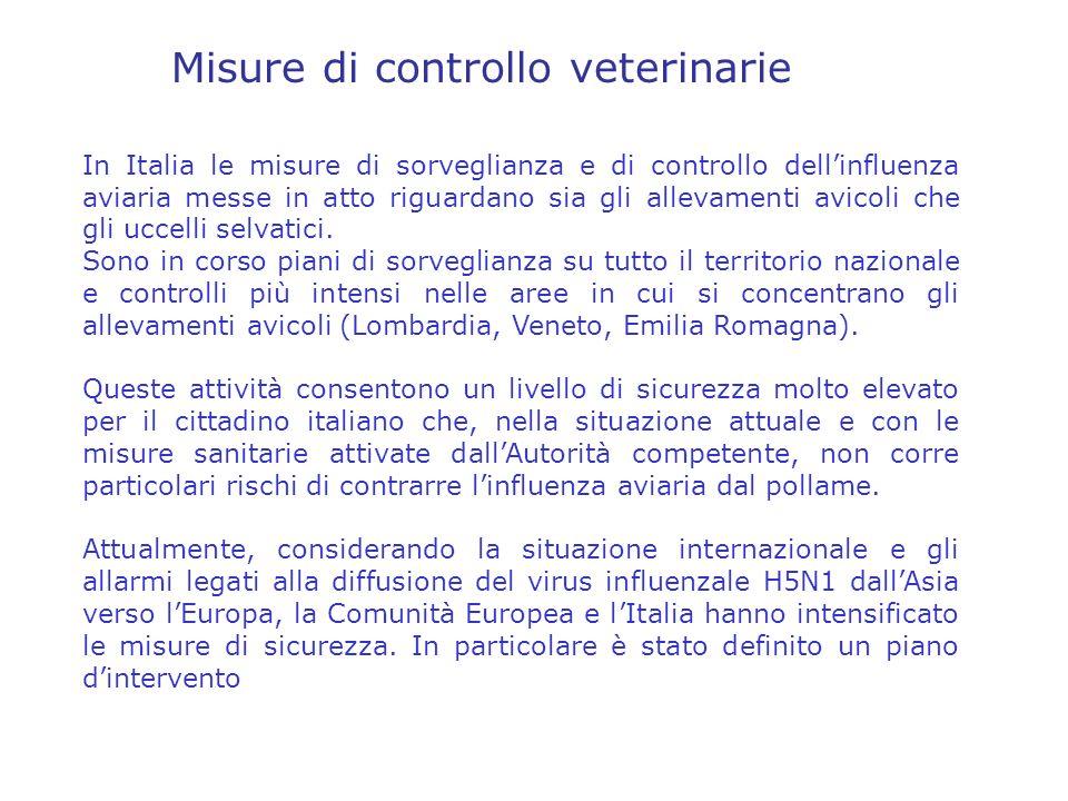 Misure di controllo veterinarie