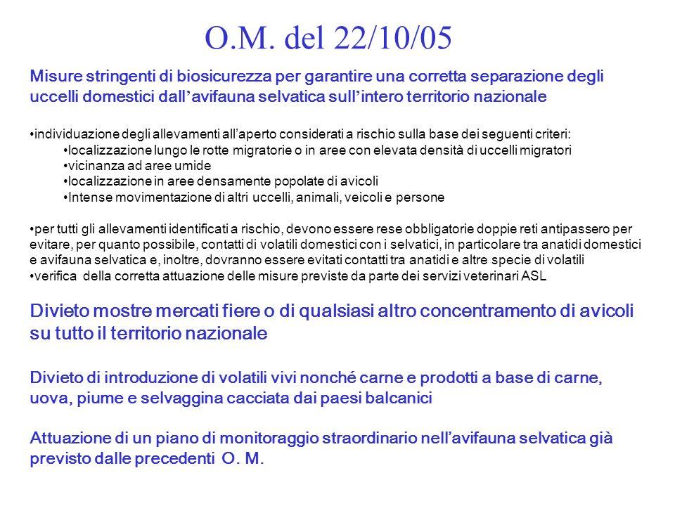 O.M. del 22/10/05