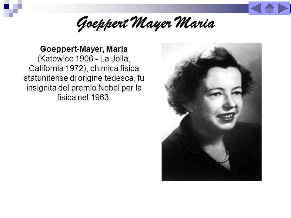 Goeppert Mayer Maria