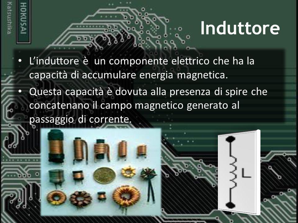 Induttore L'induttore è un componente elettrico che ha la capacità di accumulare energia magnetica.