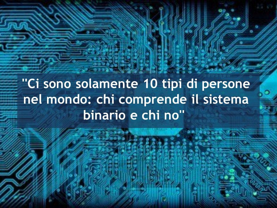 Ci sono solamente 10 tipi di persone nel mondo: chi comprende il sistema binario e chi no