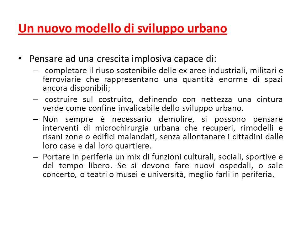 Un nuovo modello di sviluppo urbano