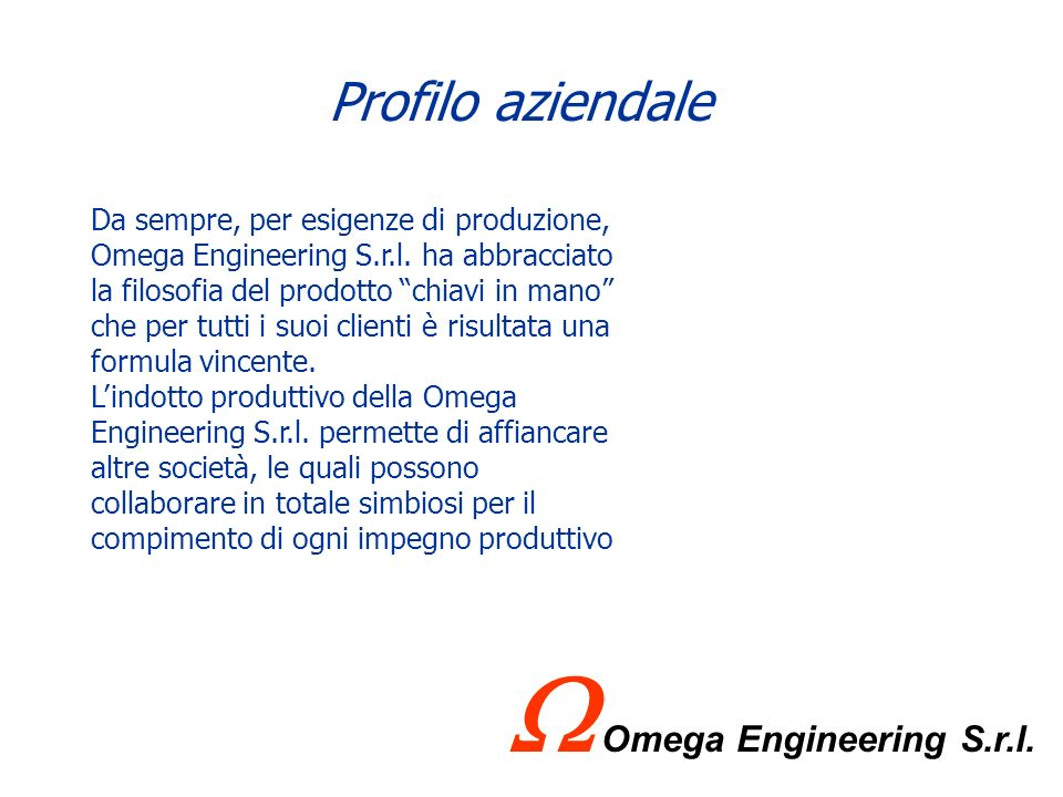 W Omega Engineering S.r.l.