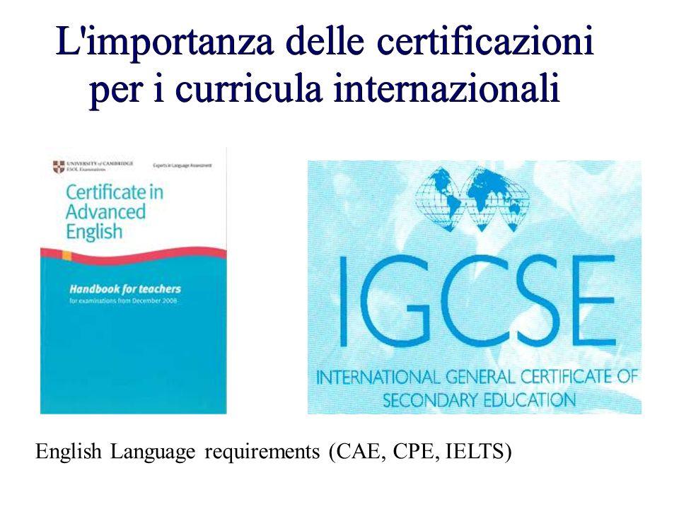 L importanza delle certificazioni per i curricula internazionali
