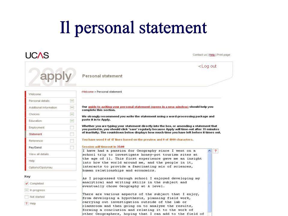 Il personal statement