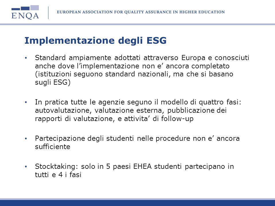 Implementazione degli ESG