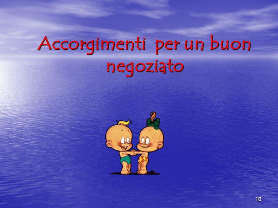 Accorgimenti per un buon negoziato