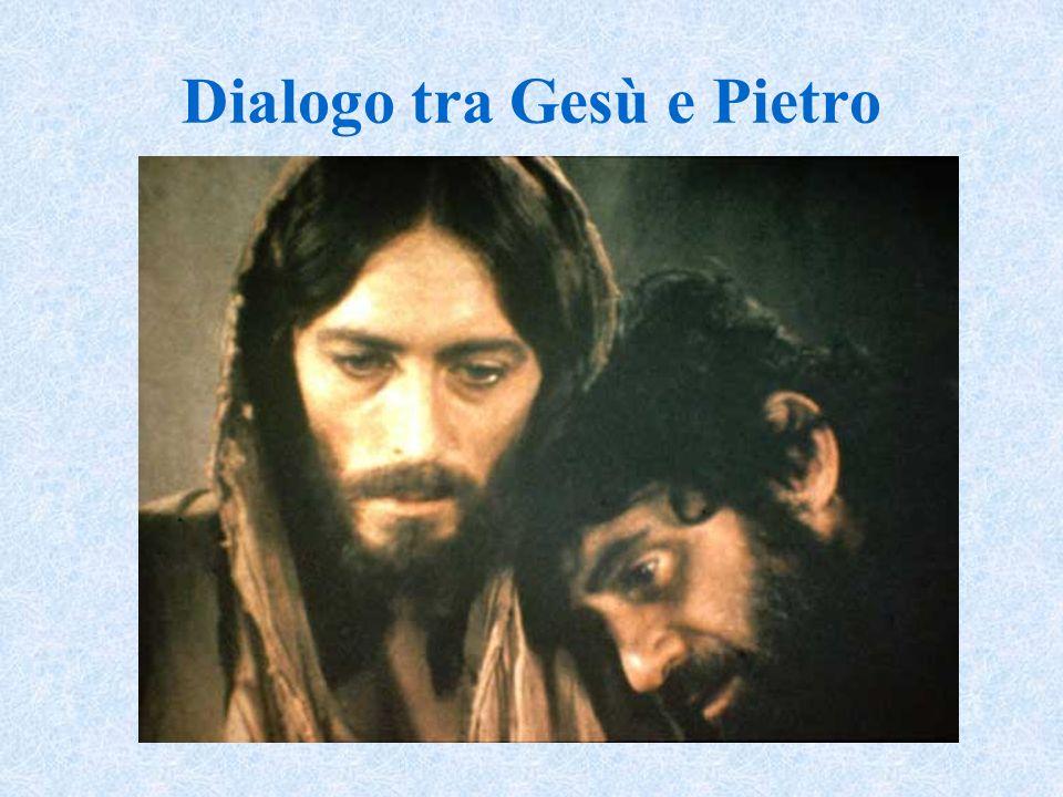 Dialogo tra Gesù e Pietro