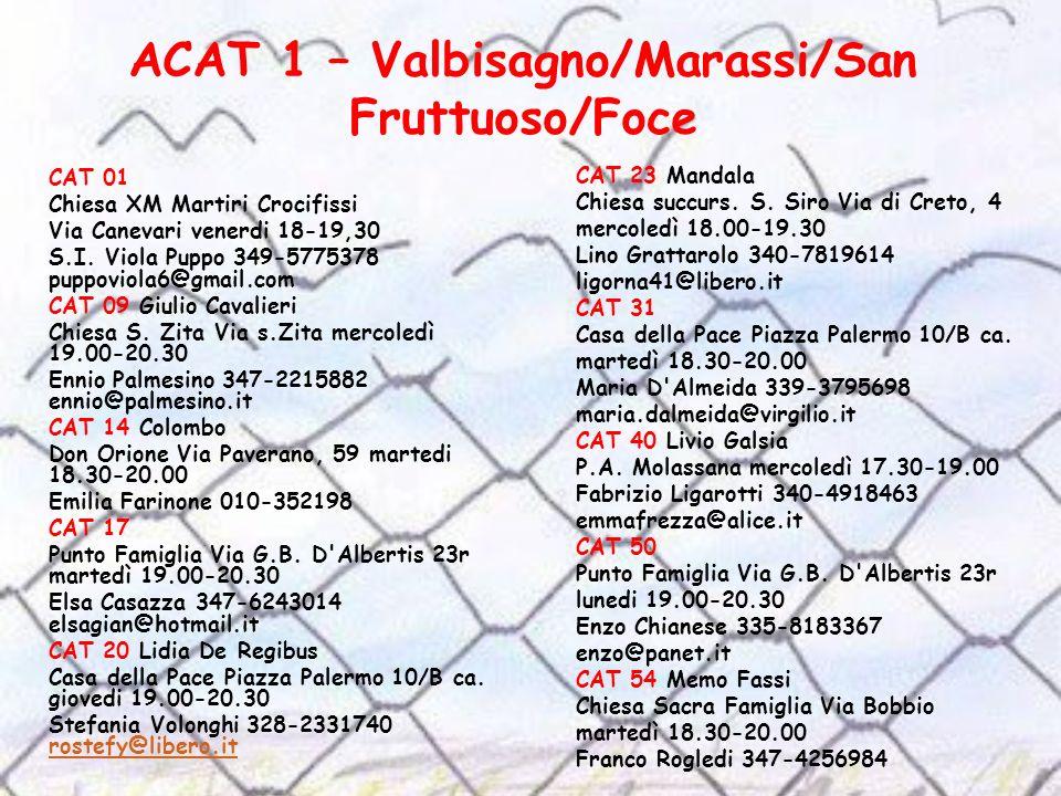 ACAT 1 – Valbisagno/Marassi/San Fruttuoso/Foce