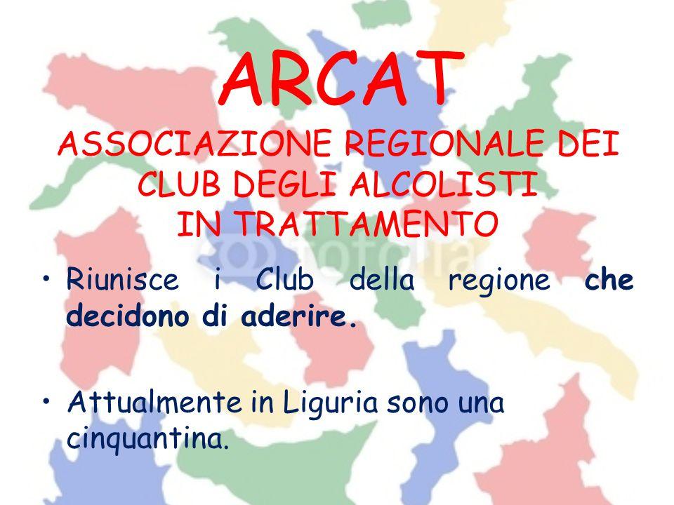 ARCAT ASSOCIAZIONE REGIONALE DEI CLUB DEGLI ALCOLISTI IN TRATTAMENTO