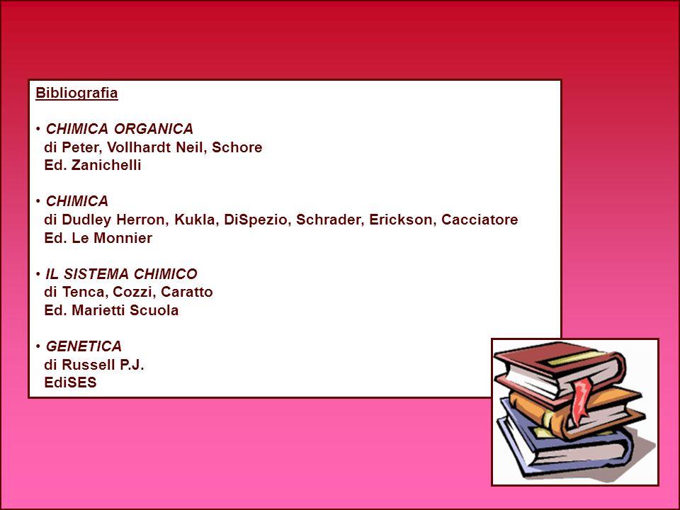 Bibliografia CHIMICA ORGANICA. di Peter, Vollhardt Neil, Schore. Ed. Zanichelli. CHIMICA.
