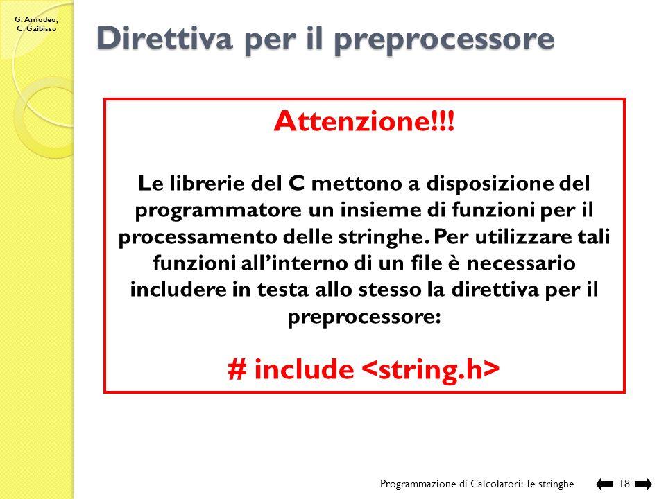 Direttiva per il preprocessore