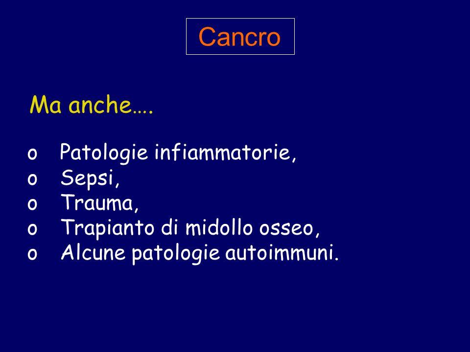 Cancro Ma anche…. Patologie infiammatorie, Sepsi, Trauma,