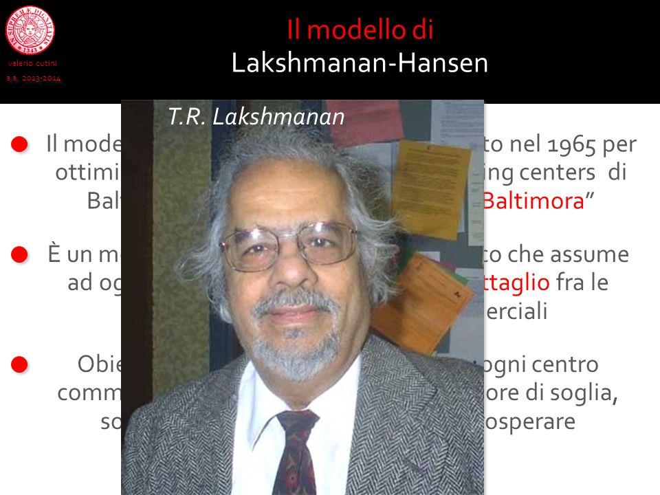 Il modello di Lakshmanan-Hansen T.R. Lakshmanan