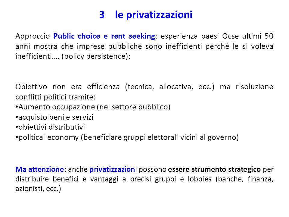 3 le privatizzazioni