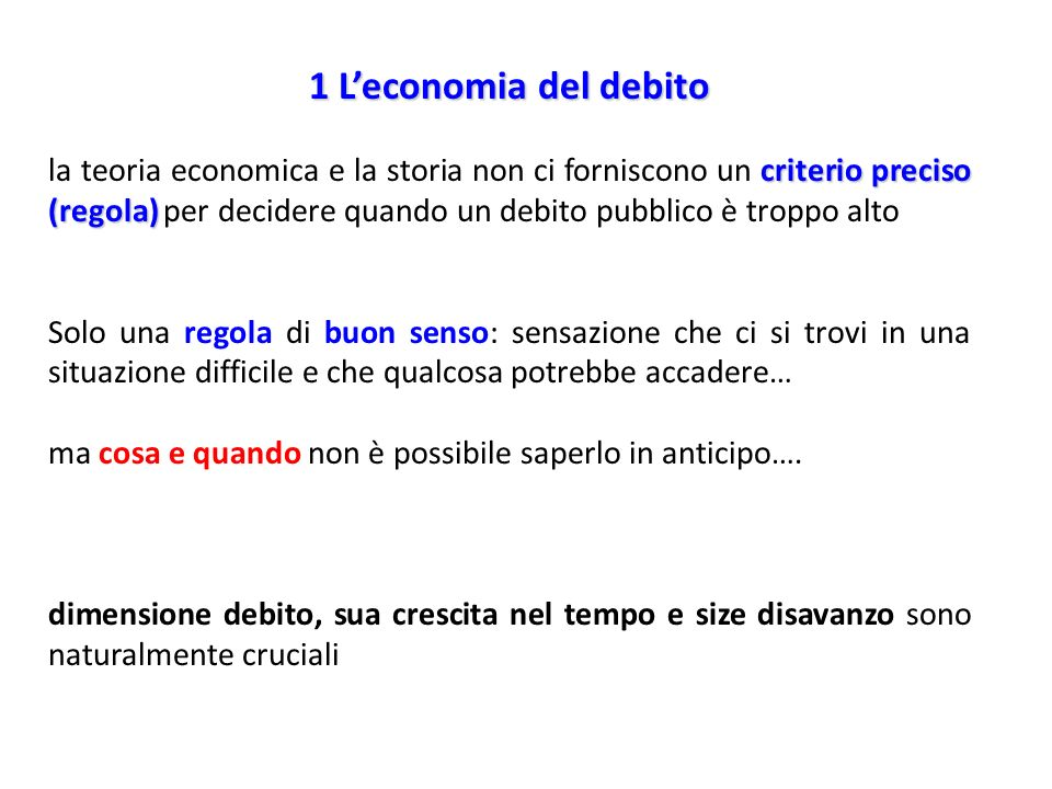 1 L'economia del debito